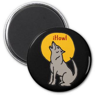 T5- diseño del lobo del iHowl Imán
