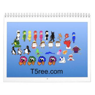 T5ree Calander Calendario De Pared
