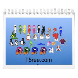 T5ree Calander Calendarios