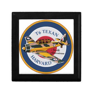 T6 Texan Harvard norteamericano Abzeichen Caja De Recuerdo