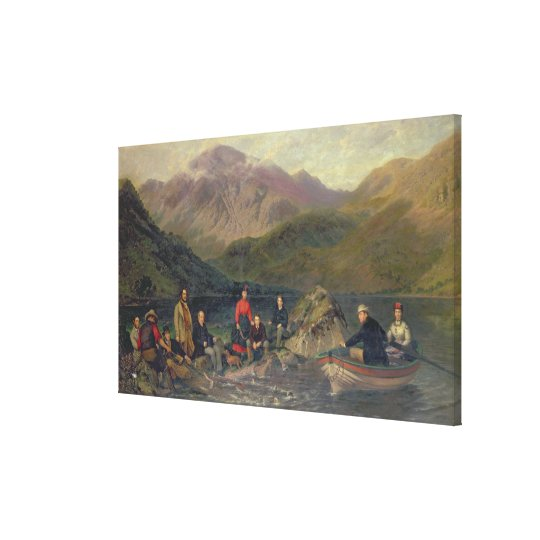 T7833 Fishing at Haweswater Canvas Print