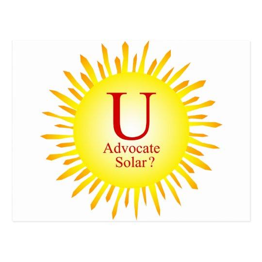 T7a  U advocate solar Postcard