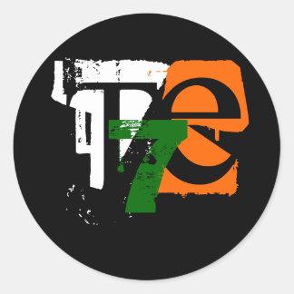T7E (pegatina) Pegatina Redonda