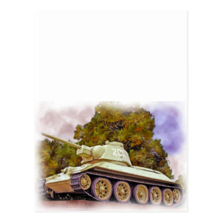 T-34 el tanque ruso, monumento de guerra postal