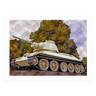 T-34 el tanque ruso, monumento de guerra tarjetas postales