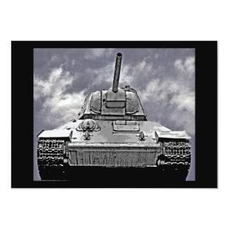 """T-34 el tanque ruso, monumento soviético, Berlín - Invitación 5"""" X 7"""""""