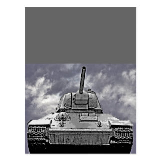 T-34 el tanque ruso, monumento soviético, Berlín - Postal