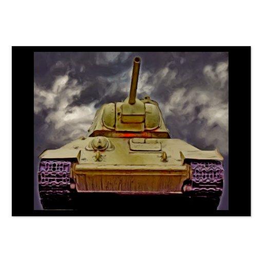 T-34 el tanque ruso, monumento soviético, Berlín - Tarjetas De Negocios