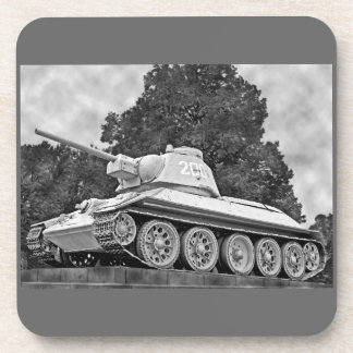 T-34 Russian Tank,Soviet Memorial,Berlin - B&W(2) Coaster