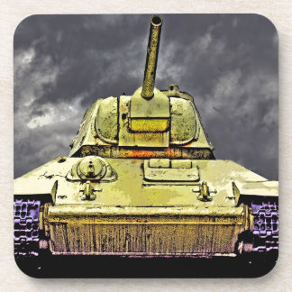 T-34 Russian Tank,Soviet Memorial,Berlin -Ft(c) Beverage Coaster