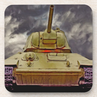 T-34 Russian Tank,Soviet Memorial,Berlin - Oil/Fro Coaster