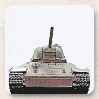 T-34 Russian Tank,Soviet Memorial,Berlin -(sm2d) Beverage Coaster