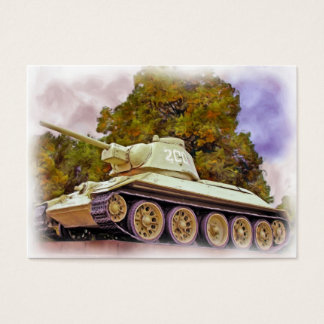 T-34 Russian Tank,Soviet War Memorial, Berlin -Oil Business Card
