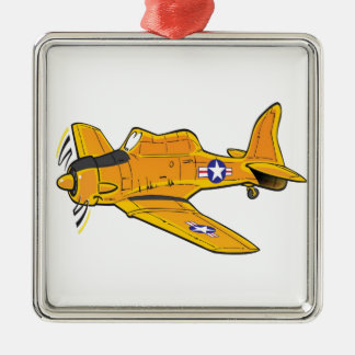 T-6 Texan Metal Ornament