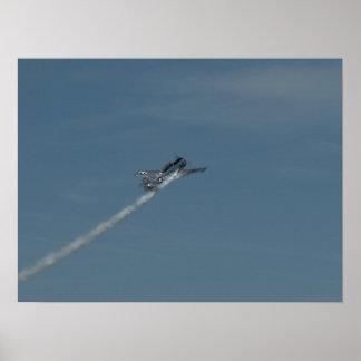 """T-6 """"Texan"""" volado por Bill Leff. Póster"""