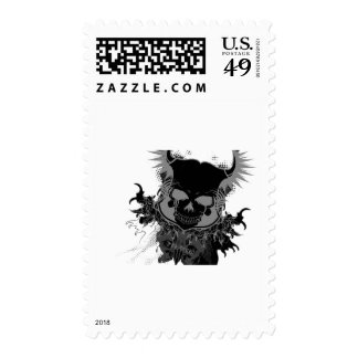 T|A Skulls Postage Stamp