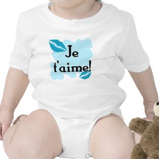 ¡T aime de Je - Francés te amo Camiseta