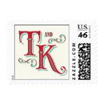 T and K Carnival Monogram stamp