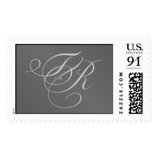 T and R monogram Postage Stamp
