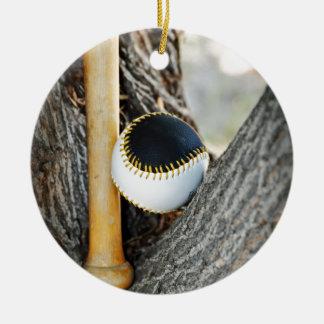 T-Ball Bat and Ball - Beginner Baseball Ceramic Ornament