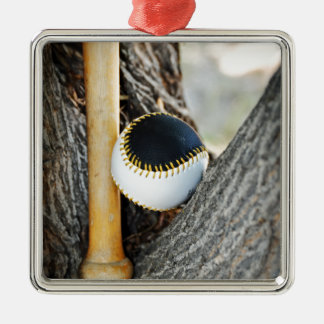 T-Ball Bat and Ball - Beginner Baseball Metal Ornament