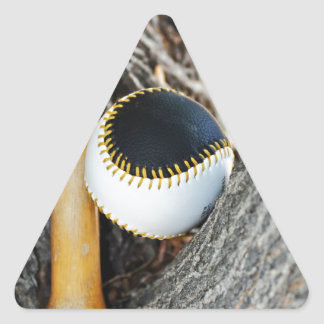 T-Ball Bat and Ball - Beginner Baseball Triangle Sticker