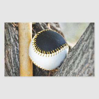 T-Ball Bat and Ball - Beginner Baseball Rectangular Sticker