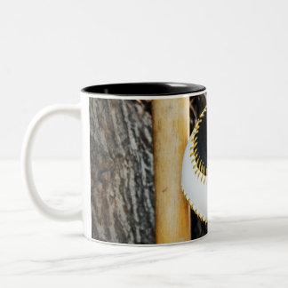 T-Ball Bat and Ball - Beginner Baseball Two-Tone Coffee Mug
