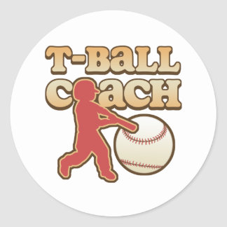 T-Ball Coach Classic Round Sticker