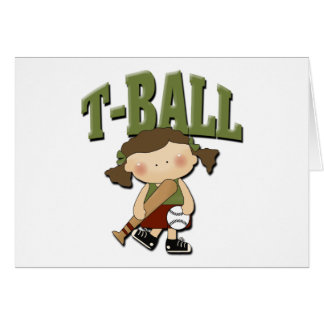 T-Ball Girl Card