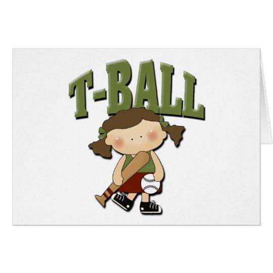 T-Ball Girl Card