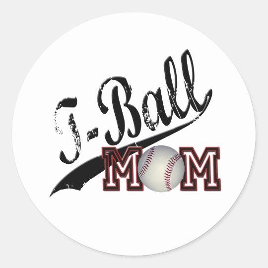 T-Ball Mom Classic Round Sticker