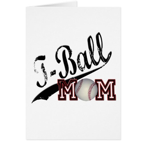 T-Ball Mom Greeting Card