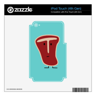 T-bone steak meat protein grilled beef fat bone decal for iPod touch 4G