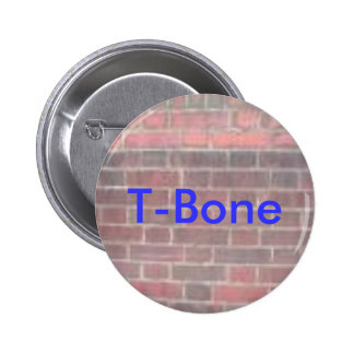 T-Bone With Brick Background On Pin