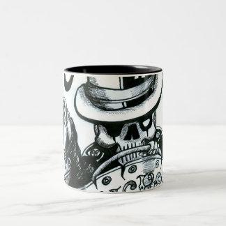 T-bucket-01, RUSTED-SUBVERSIVA-01 Two-Tone Coffee Mug