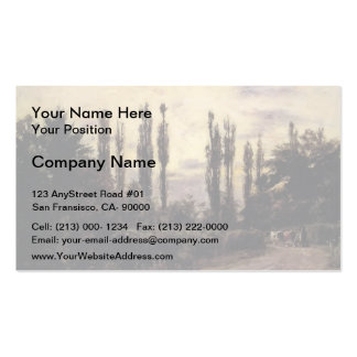 T C Steele- Evening Poplars and Roadway Business Card Templates
