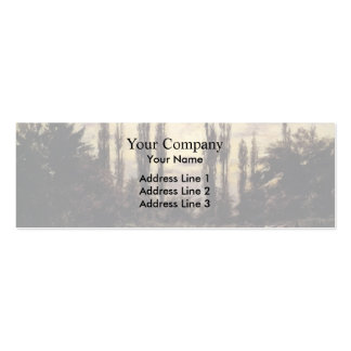 T C Steele- Evening Poplars and Roadway Business Cards