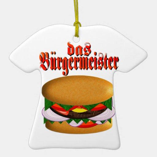 T-Camisa-Estilo del das Burgermeister Adornos De Navidad