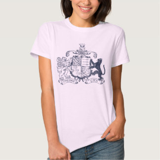 T-cats coat of arms - blue - with dates t shirt