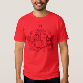 T-cats coat of arms - red - with dates shirt