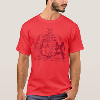 T-cats coat of arms - red - with dates T-Shirt