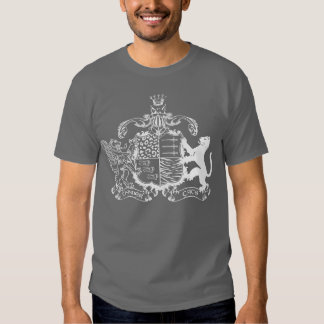 T-cats coat of arms - white - with dates t shirt