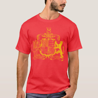 T-cats coat of arms - yellow - with cities T-Shirt