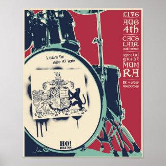 T-cats concert poster