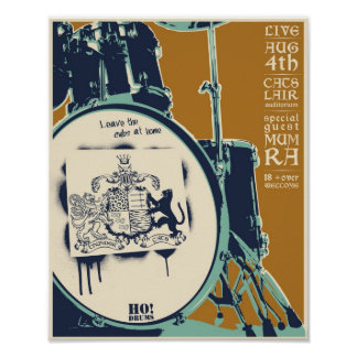 T-cats concert poster - tan