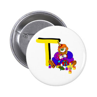 T Clown Pinback Button