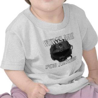 T de la nave del traqueteo camiseta