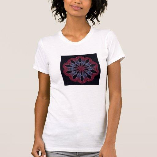 T del fractal (caída Blossom-2 ZXK) de Women's Camiseta