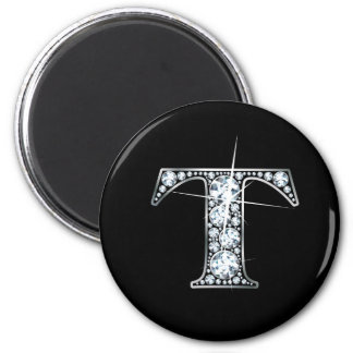 """T"" Diamond Bling Magnet"